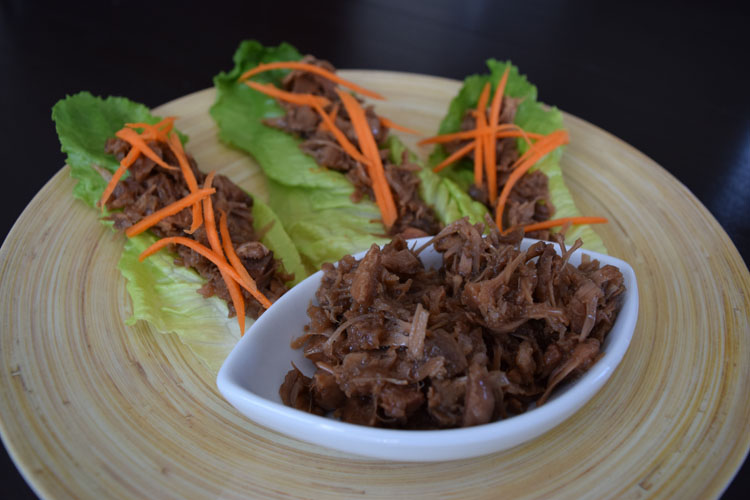 Koreen inspired pulled jackfruit